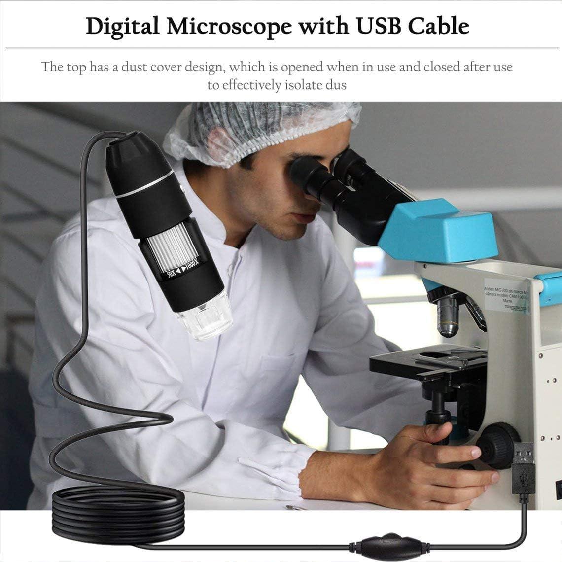 Zinniaya Multifunctional Handheld Portable USB Digital Microscope 300,000 Images USB Electronic Without Bracket