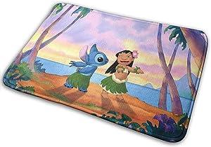 AIRGT Lilo Stitch Floor mat Indoor and Outdoor Entrance Bathroom Door mat Non-Slip Floor mat, Washable Personalized Decorative mat 15.8x23.6 inches