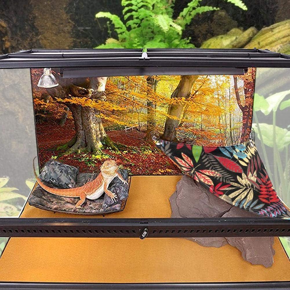 Josietomy - Juego de 2 hamacas para reptiles transpirables, hamaca de dragón barbudo y lagarto, tumbona, hamaca, tumbona y escalera, accesorios para serpientes de Geckos: Amazon.es: Productos para mascotas
