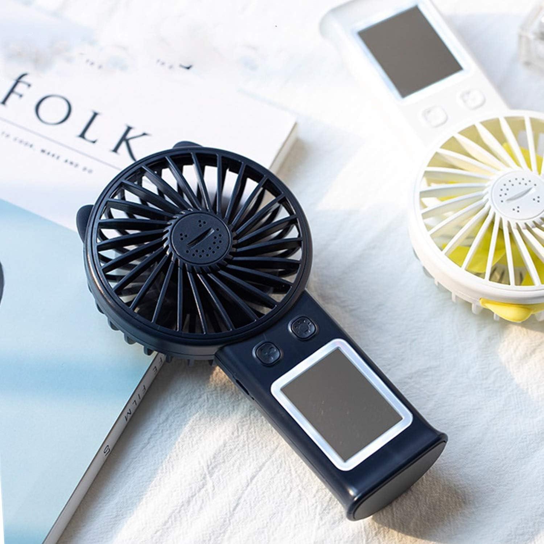 Air Cooler Beauty Mirror Fan Fill Light Portable USB Charging Fan Handheld Mini Fill Light Mirror Fan Color : Blue