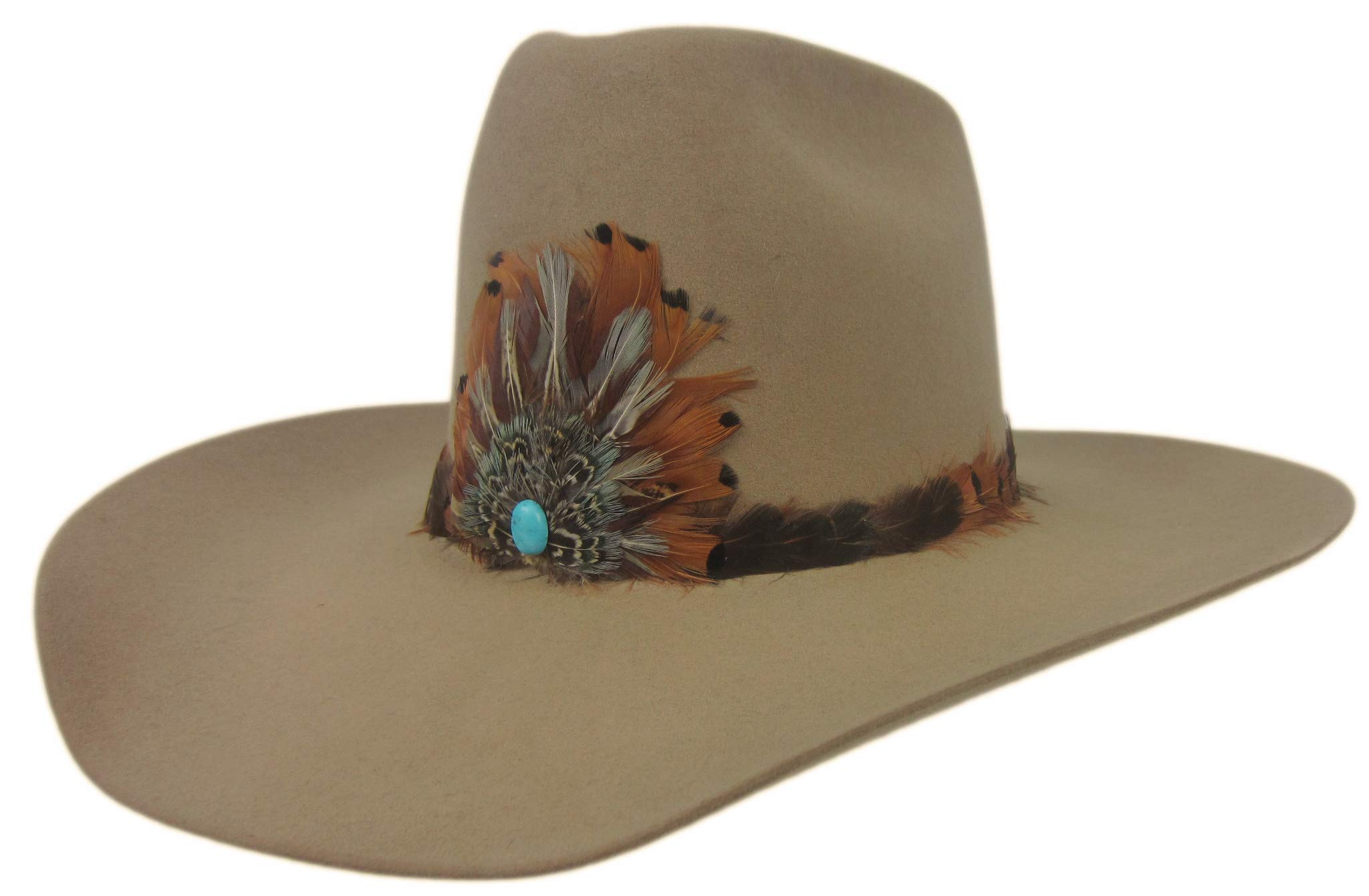 Stetson 6X Show and Tell Cowboy Hat Fawn 7 Oval 4'' Brim