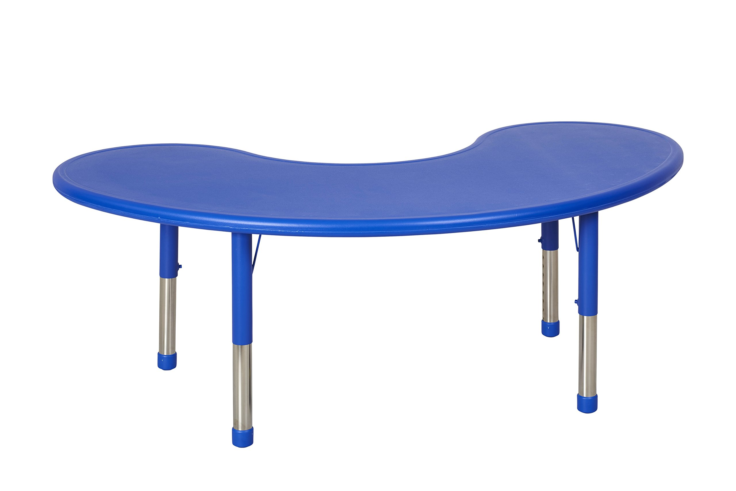 ECR4Kids 65'' Kidney Resin Activity Table, Blue