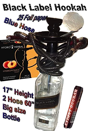 1 Hose,Water Shisha Bong Glass Smoking, Free Charcoal & Mouth Tips, Flavor