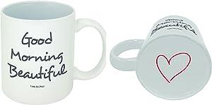Funny Guy Mugs Good Morning Beautiful Ceramic Coffee Mug, White, 11-Ounce