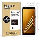 iVoler [2-Unidades] Protector de Pantalla Samsung Galaxy A8 2018, Cristal Vidrio Templado Premium para Samsung Galaxy A8 2018 [9H Dureza] [Alta Definicion 0.2mm] [2.5D Round Edge]