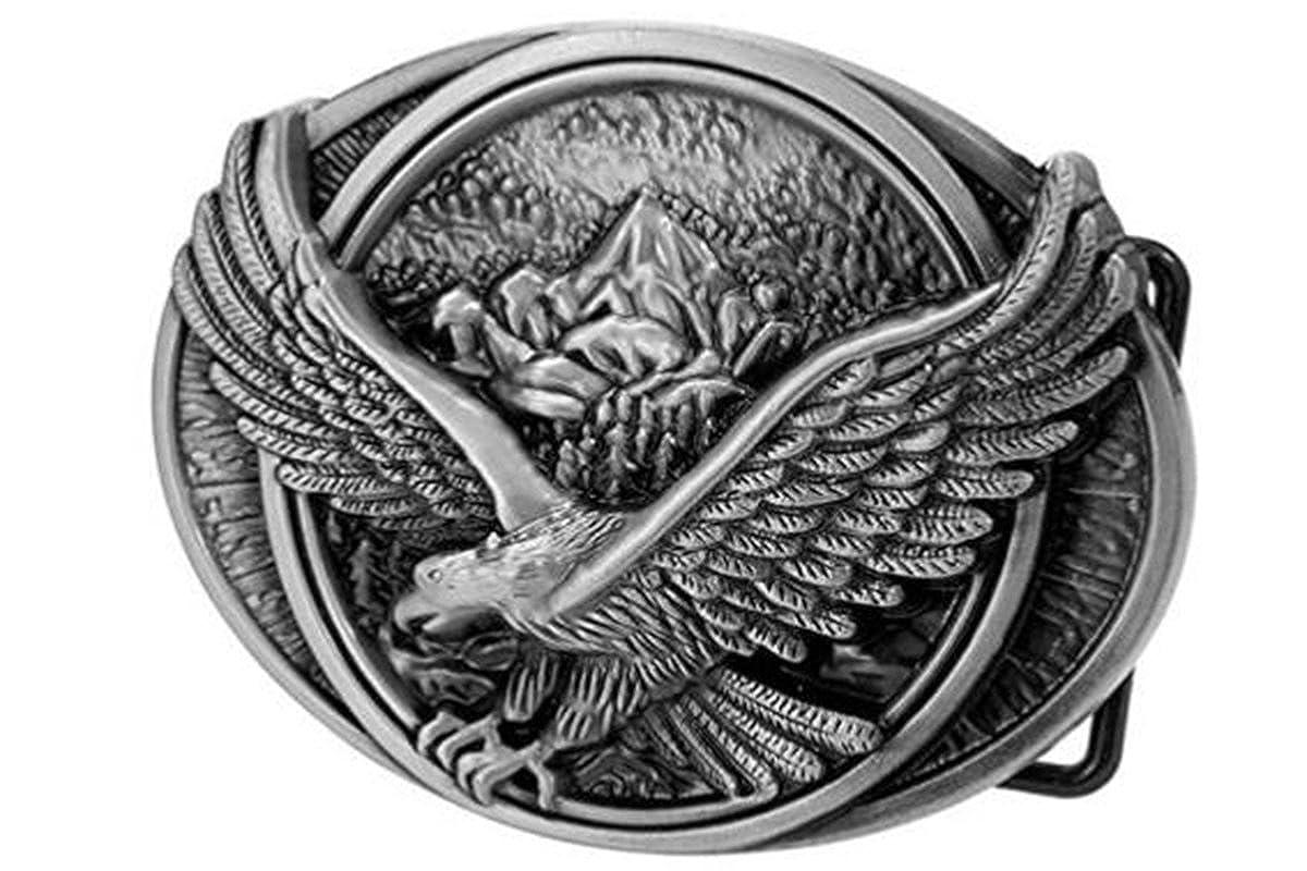 Bai You Mei Mens Western Style Fly Eagle Belt Buckle Vintage Style American Cowboy Fashion Belt Buckles Ying Belt BuckleCA Pattern 2