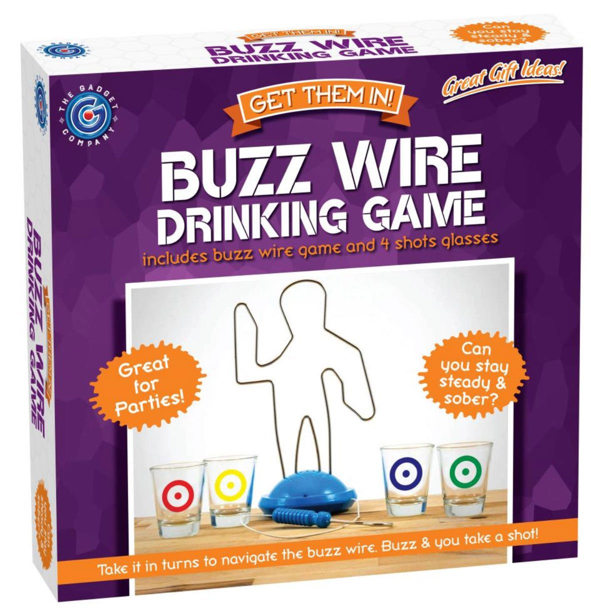 Buzz Wire Drinking Game Party Adult Novelty Shot Glasses Stocking Secret Santa SONIC®