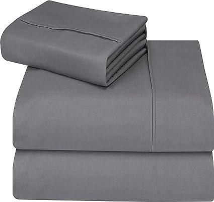 b192966504 Utopia Bedding - Set Lenzuola Letto - Spazzolata Microfibra - (Grigio,  Singolo): Amazon.it: Casa e cucina