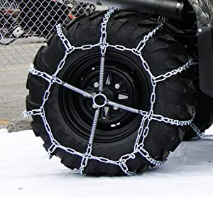The ROP Shop 4 Link TIRE Chains & TENSIONERS 29x12x15 for Kubota Lawn Mower Garden Tractor