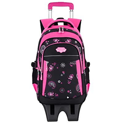 Rolling Backpack for Girls, Fanspack Backpack with Wheeled for Girls | Kids' Backpacks