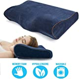 TYZAG Power by Orthopedic Memory Foam Pillow, Memory Pillow, Memory Foam Pillow for Sleeping, Memory Pillow for Neck Pain, Memory Pillow for Sleeping, Pillows (Blue)