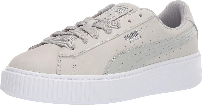 puma all white platform