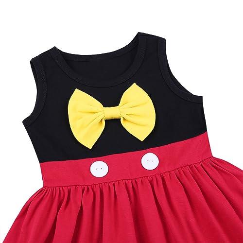 OBEEII Baby Girl Princess Costume Mermaid Snow White Mouse Cartoon Fancy Dress Up