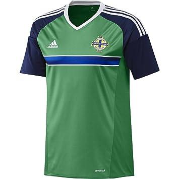 adidas Hombre Camiseta de fútbol Home Camiseta Irlanda del Norte EM 2016, Hombre,