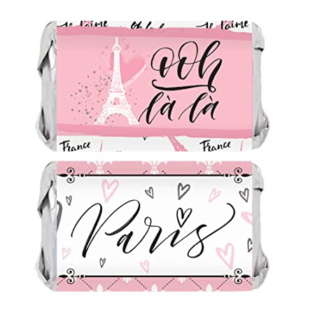 Amazon.com: Paris fiesta miniaturas Candy Bar envoltorio ...