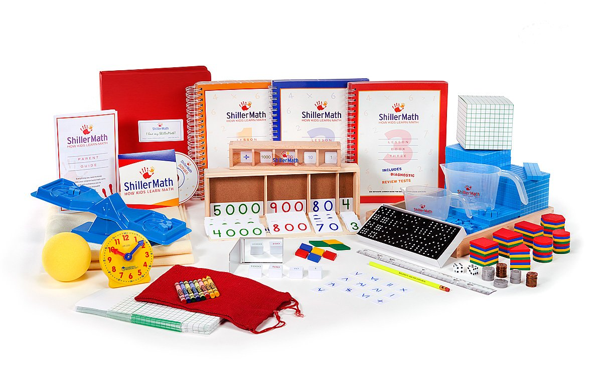 ShillerMath Kit I - Homeschool Montessori Lessons - (Pre-K to 3rd Grade)