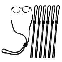 Besteek Pack of 6 Sunglass Holder Strap For Men and Women, Great for Sports and Outdoor Activities, Safety Glasses Sunglasses Holder Eyeglasses Neck Cord String Eyewear Retainer Strap