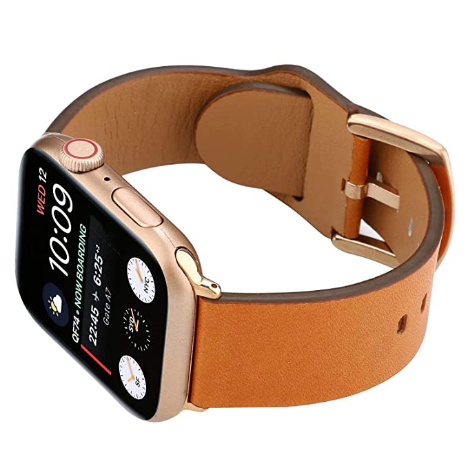 Amazon.com: Leather Smartwatch Band Strap Compatible with ...