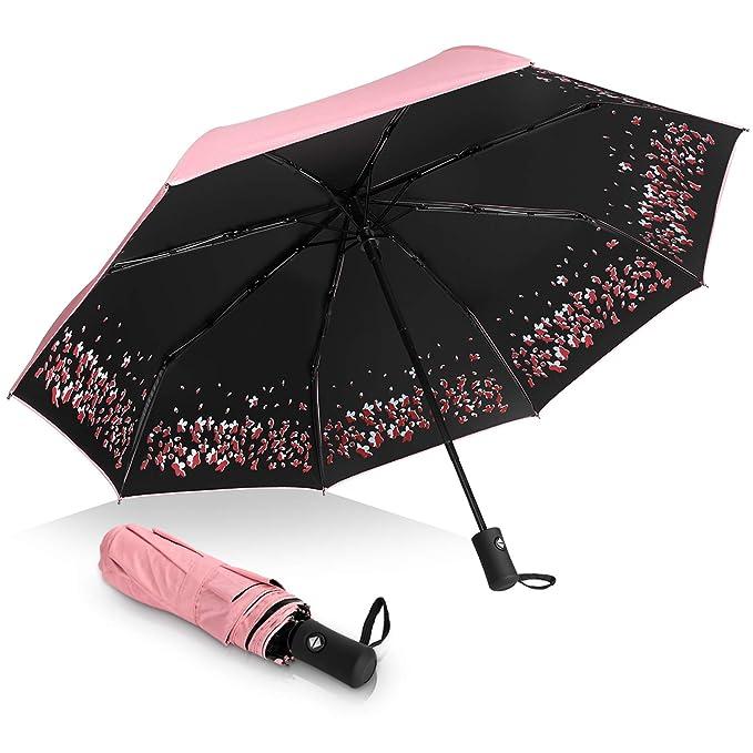 Amazon.com: Sakura - Paraguas plegable (resistente al viento ...