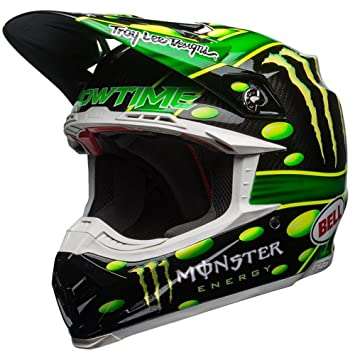 7093192 - Bell Moto-9 Flex Monster McGrath Motocross Helmet XL Black Green