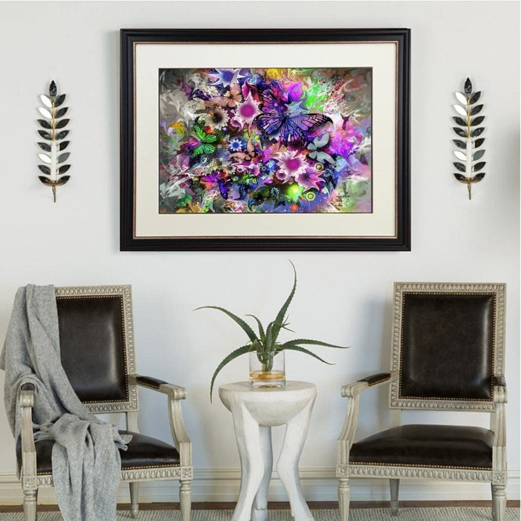 Colorful Butterfly and Flower Art Home Decor-35X45cm Swyss 5D Embroidery Paintings DIY Diamond Painting Cross Stitch