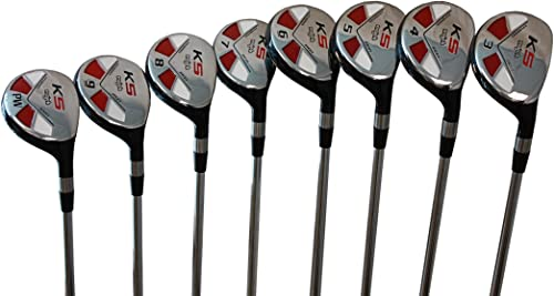 Petite Senior Womens Majek Golf Clubs All Ladies Hybrid Complete Full Lightweight Graphite Set which Includes 3, 4, 5, 6, 7, 8, 9, PW. Lady Flex Right Handed New Utility L Flex Club Perfect for Pe