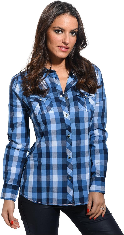 Cbk Camisa Celeste - Mujer - 44 - Azul: Amazon.es: Ropa y ...