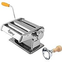 CAP17 Machine a pates fraiches Manuelle- laminoir Patisserie a Pate feuilletée pour des pâtes fraîches Spaghetti, Lasagne ou tagliatelle Pasta Maker en Acier chromé