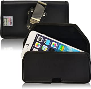 product image for Turtleback Belt Case Compatible with Apple iPhone 6S Plus, 6 Plus Black Holster Leather Pouch with Heavy Duty Rotating Ratcheting Belt Clip Horizontal Made in USA