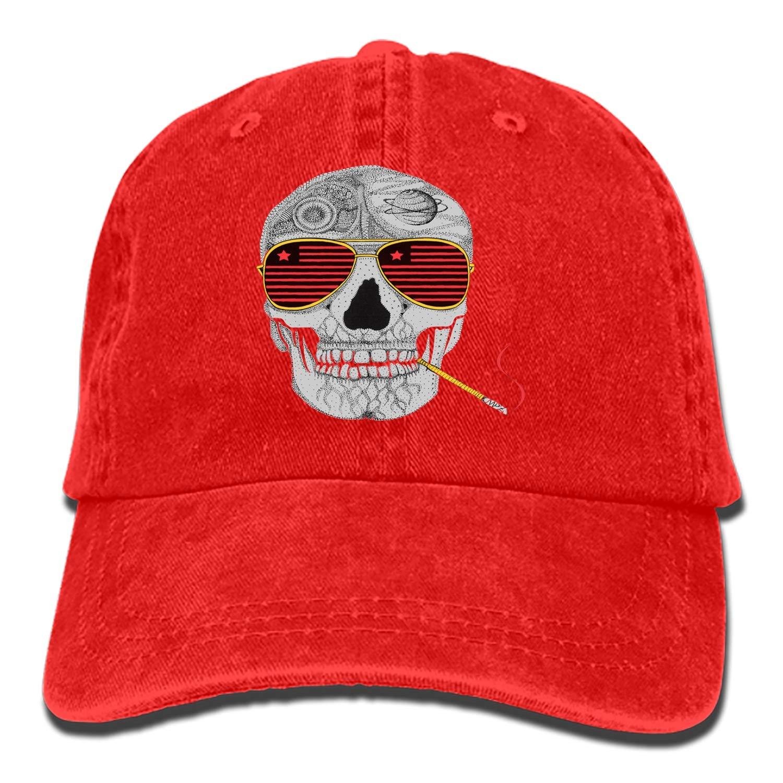 Dad Trucker Snapback Hat Custom Gonzo Skull Classic Cotton Adjustable Baseball Cap