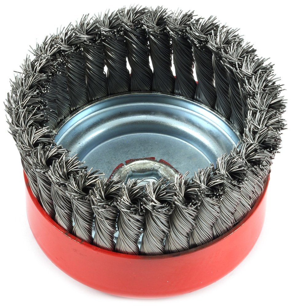 Amazon.com: Forney 72756 Wire Cup Brush, Knotted with 5/8-Inch-11 ...