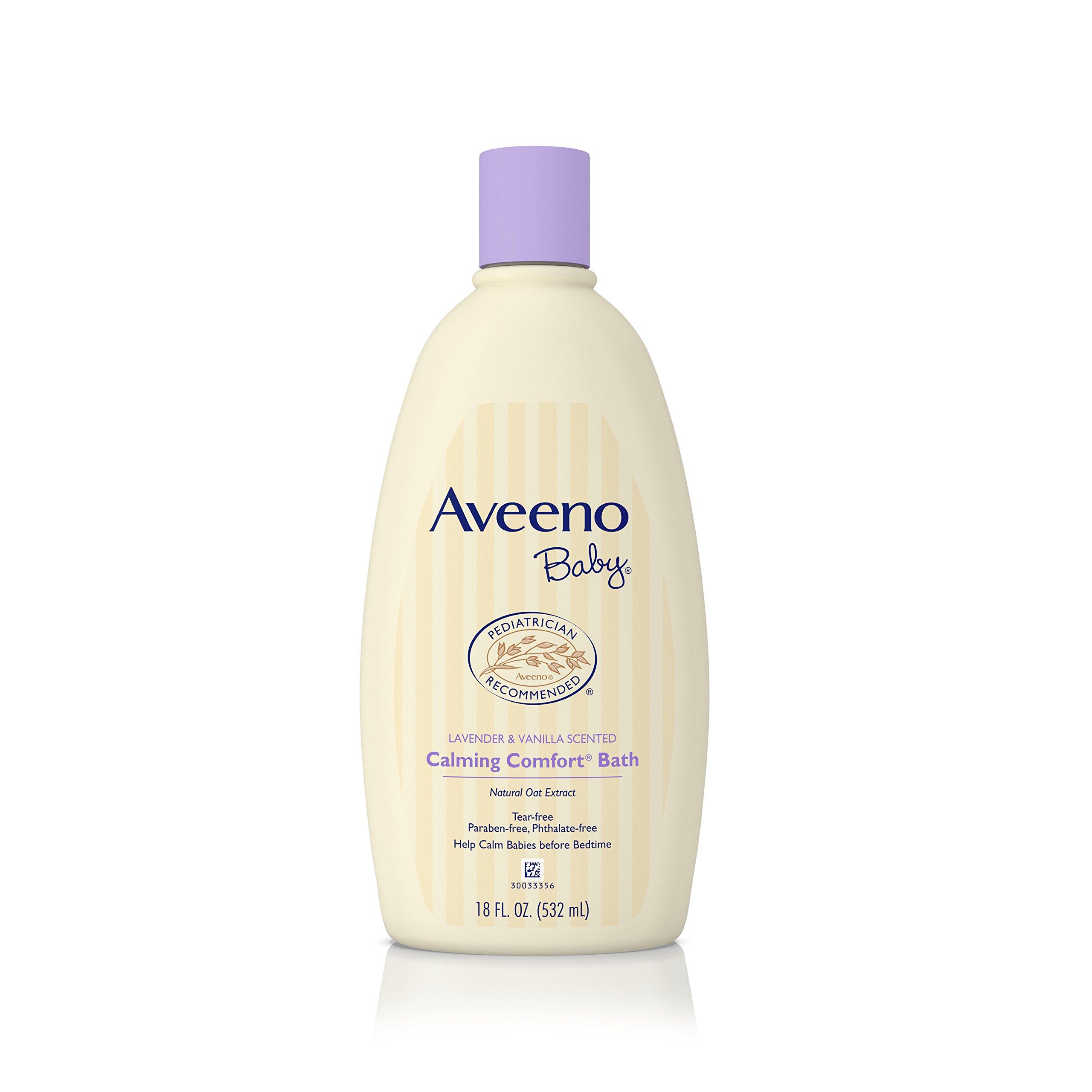 Aveeno Baby Calming Comfort Bath Wash, Tear Free, Lavender & Vanilla, 18 Fl. Oz.
