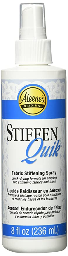 Amazon.com: Aleenes. Stiffen-Quick Fabric Stiffening Spray 8oz (Limited Edition)
