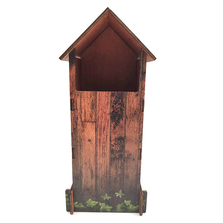 c/ómo periquitos o Canarios La casita Sirve para Hamsters Refugio para Hacer criar Aves 6 Piezas de Muy f/ácil Montaje GoGoVolt Nido de Madera para p/ájaros