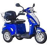 Lunex Scooter Electrico Movilidad Reducida Triciclo/Scooter RECREATIVO Minusvalido Mayores 3 Ruedas Adulto con Asiento hasta 25km/h 48V 80AH 500W