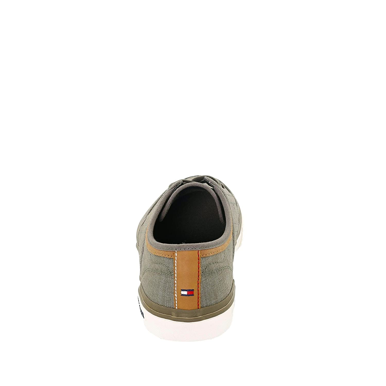 Tommy Hilfiger FM0FM01384068 Herren Sneaker Oliv Textilmaterial Flexible Laufsohle Oliv Sneaker 7b88f5