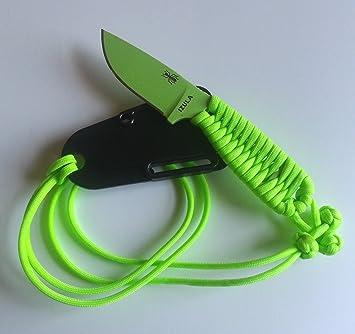 ESEE Izula - Cuchillo con mango encordado, color verde ...
