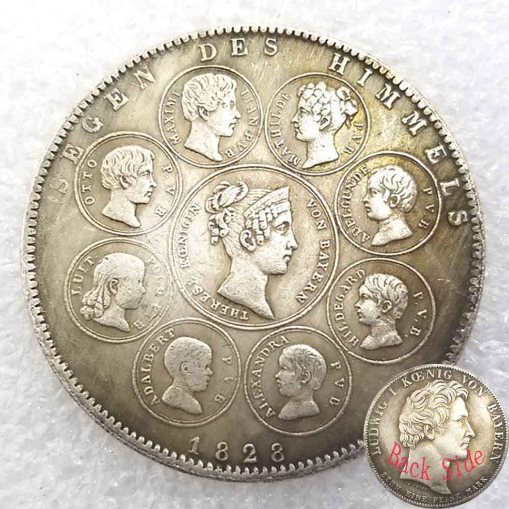 FKaiYin 1828 Estados alemanes Antiguas Monedas - Moneda Imperio Alemán - Moneda Vieja No Circular Gran Moneda Conmemorativa Regalo para Papá/Amigo/Marido Futuro Experiencia: Amazon.es: Hogar