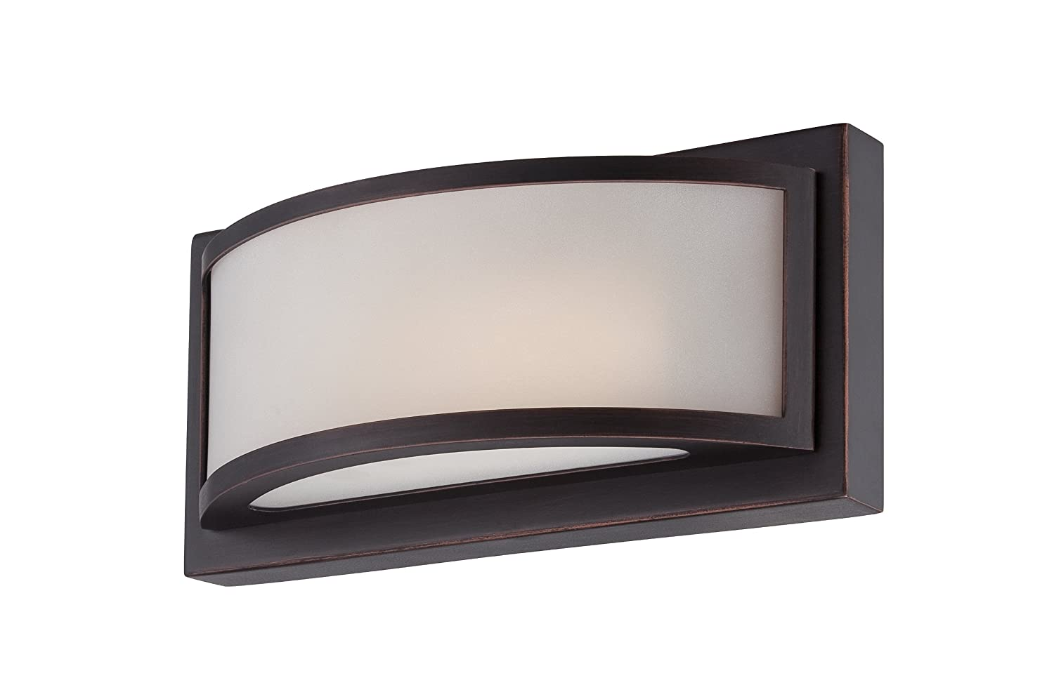 Nuvo Lighting 62 314 Mercer Led One Light Wall Sconce 4 8 Watt 285 Lumens Soft White 2700k Kolourone Technology Frosted Glass Georgetown Bronze Fixture