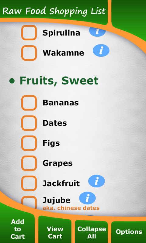 Amazon.com: Raw Food Diet Shopping List: Appstore for Android
