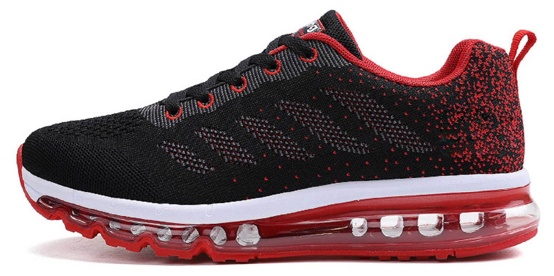 tqgold Unisex Herren Damen Sportschuhe Laufschuhe mit Luftpolster Turnschuhe Profilsohle Sneakers Leichte Schuhe