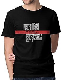 4afaa7743 Whoosh Men's Cotton Cowboy Tshirt   Cowboy Bebop Tshirt   Anime Tshirt  (Black BioWashed)