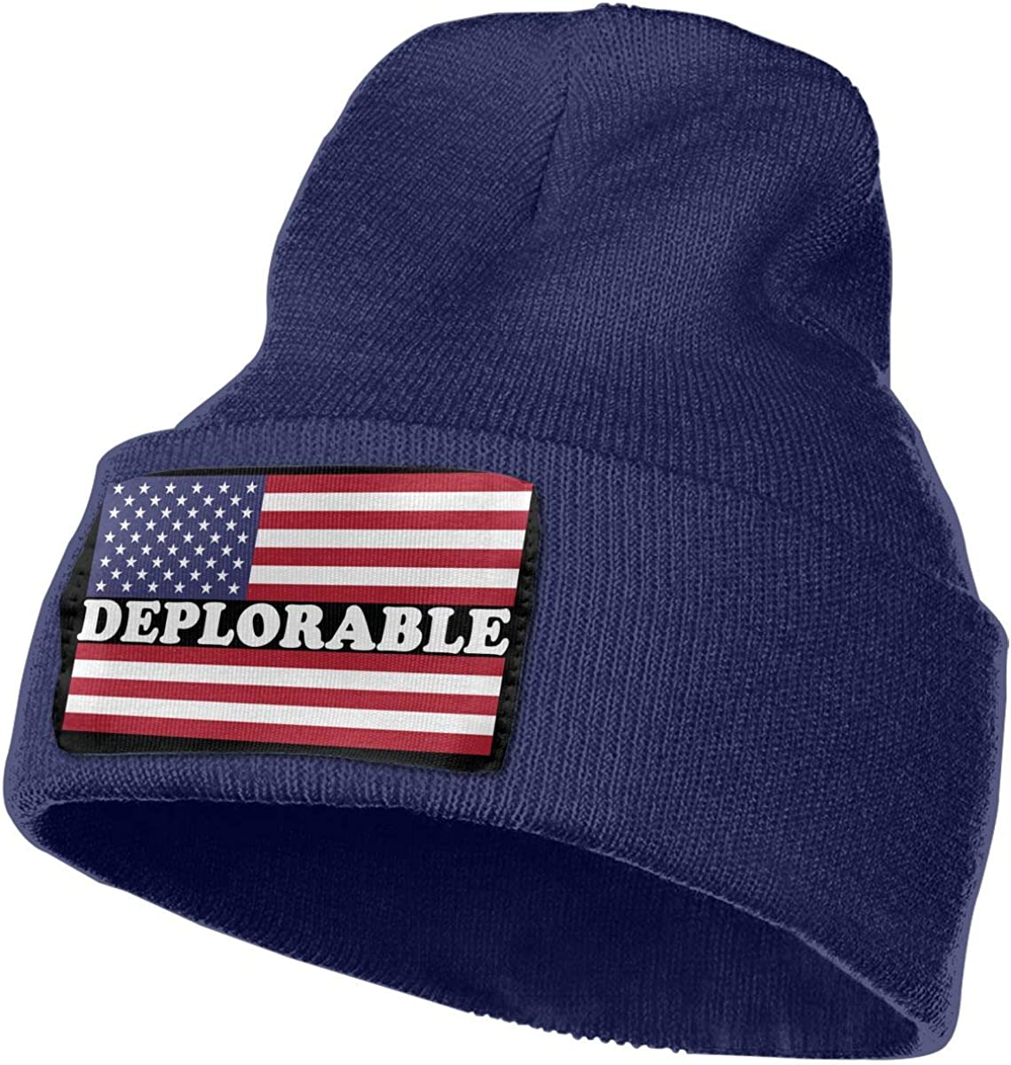 Deplorable American Flag Men Women Knit Hats Stretchy /& Soft Ski Cap Beanie