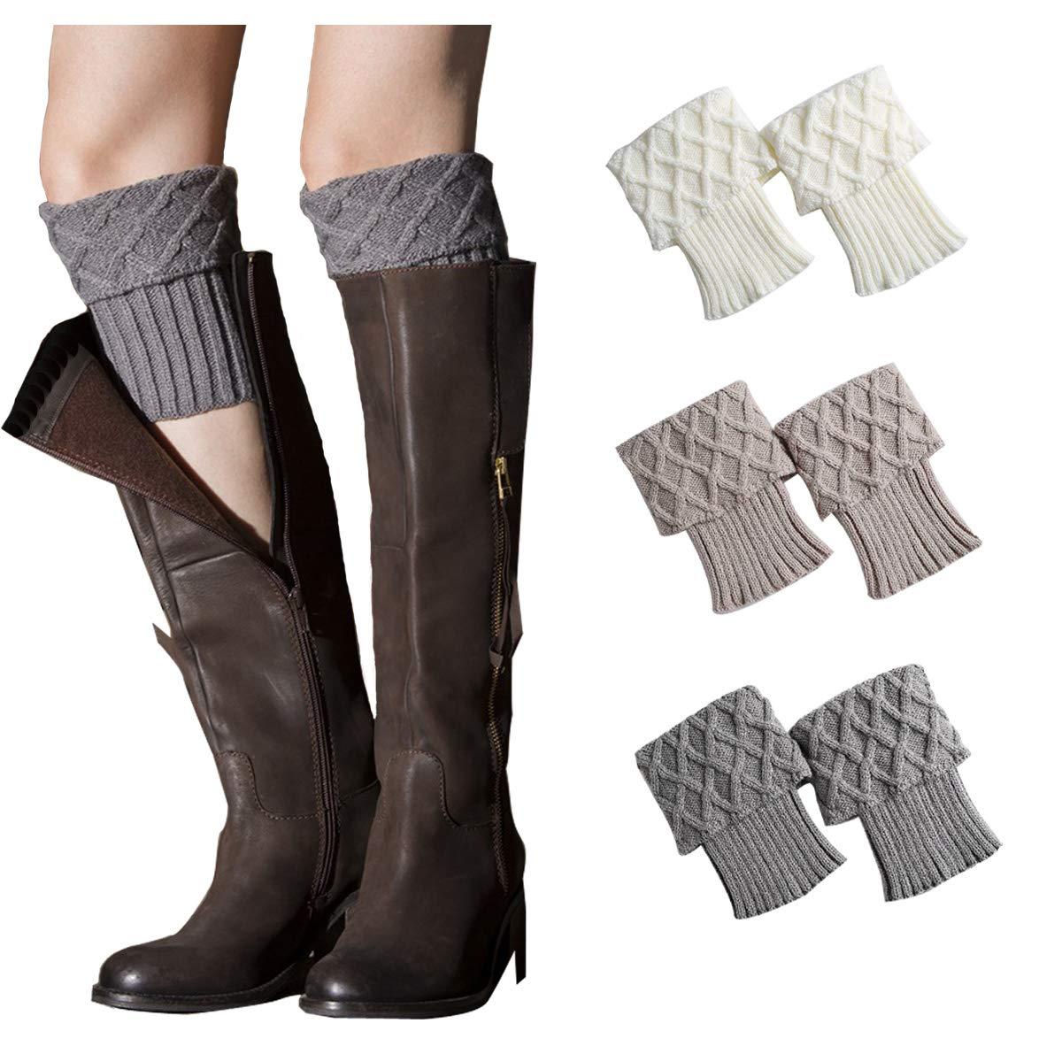 e34beb4411 Womens Leg Warmers Crochet Boot Socks Topper Cuffs (One size