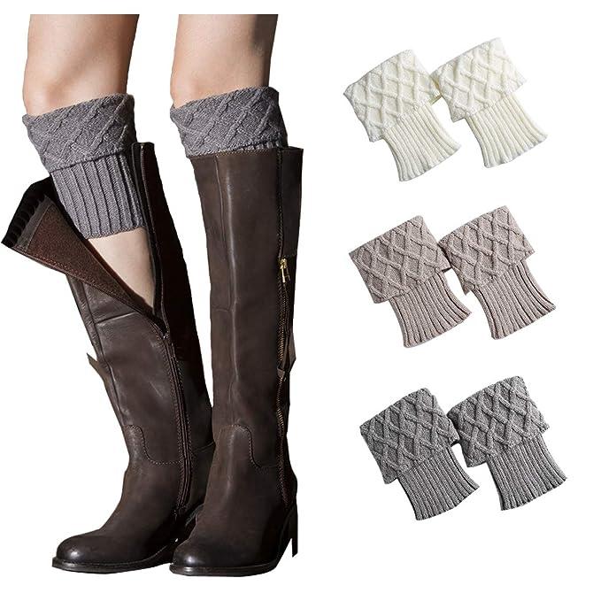 478d2e4acf0 Womens Leg Warmers Crochet Boot Socks Topper Cuffs (One size