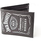 Jack Daniel's - Cartera de hombre con el logo clásico, color negro