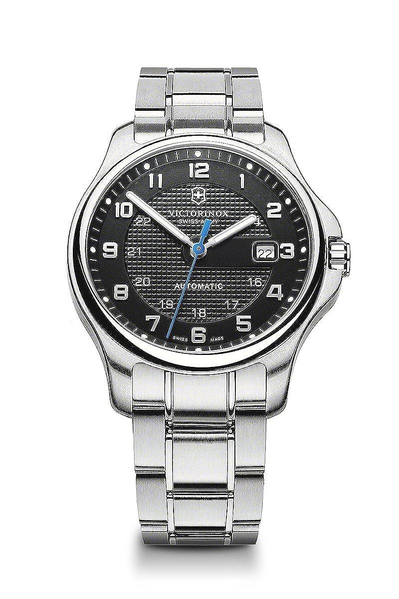 Victorinox Swiss Army OFFICERS MECHANICAL reloj con diseño de navaja suiza, color gris oscuro: Amazon.es: Relojes
