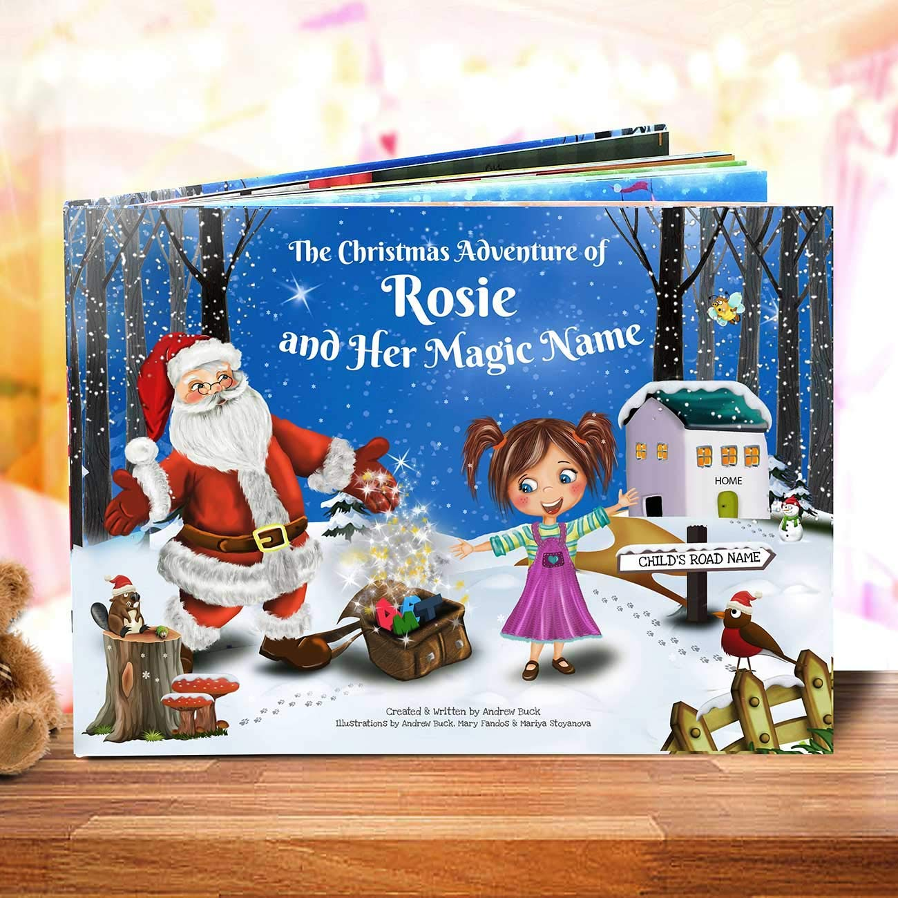 Customized Christmas Story Book with Santa - Unique for Every Child - Great Xmas Gift for Nieces, Nephews and Grandchildren