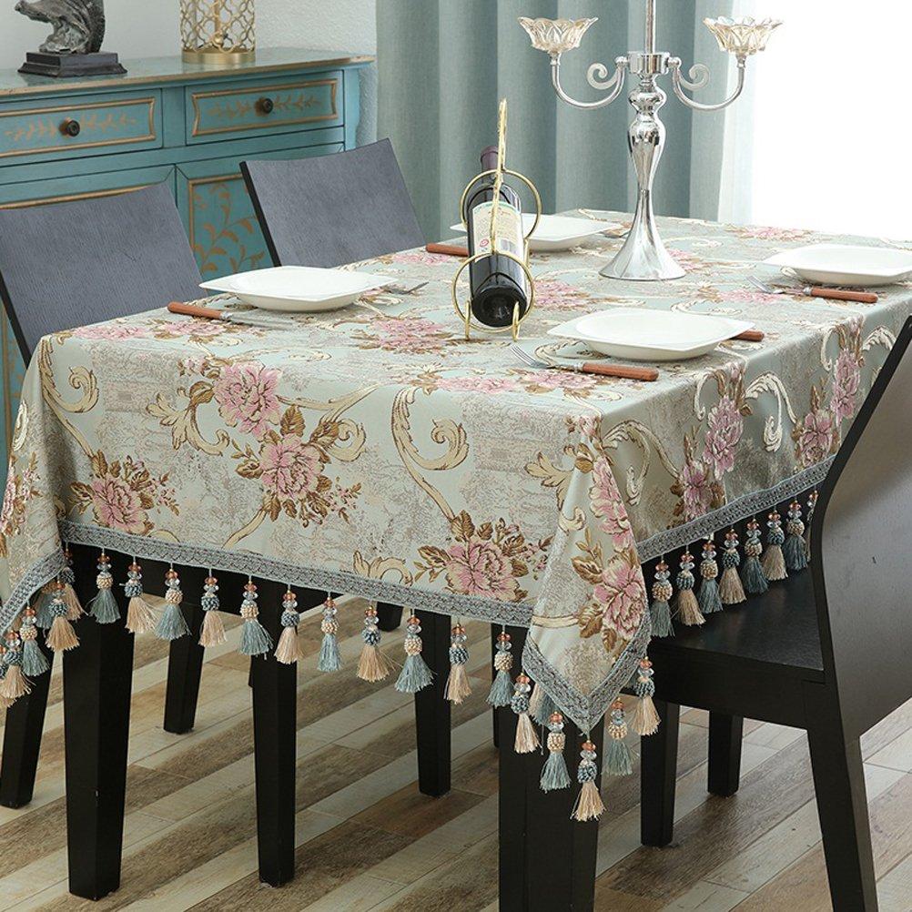140200cm Nappes Bleues Européennes Tissu Rectangulaire pour la Maison Salon Nappe Ouest Table Nappe Table Nappe Nappe (Taille  ) par SHOME