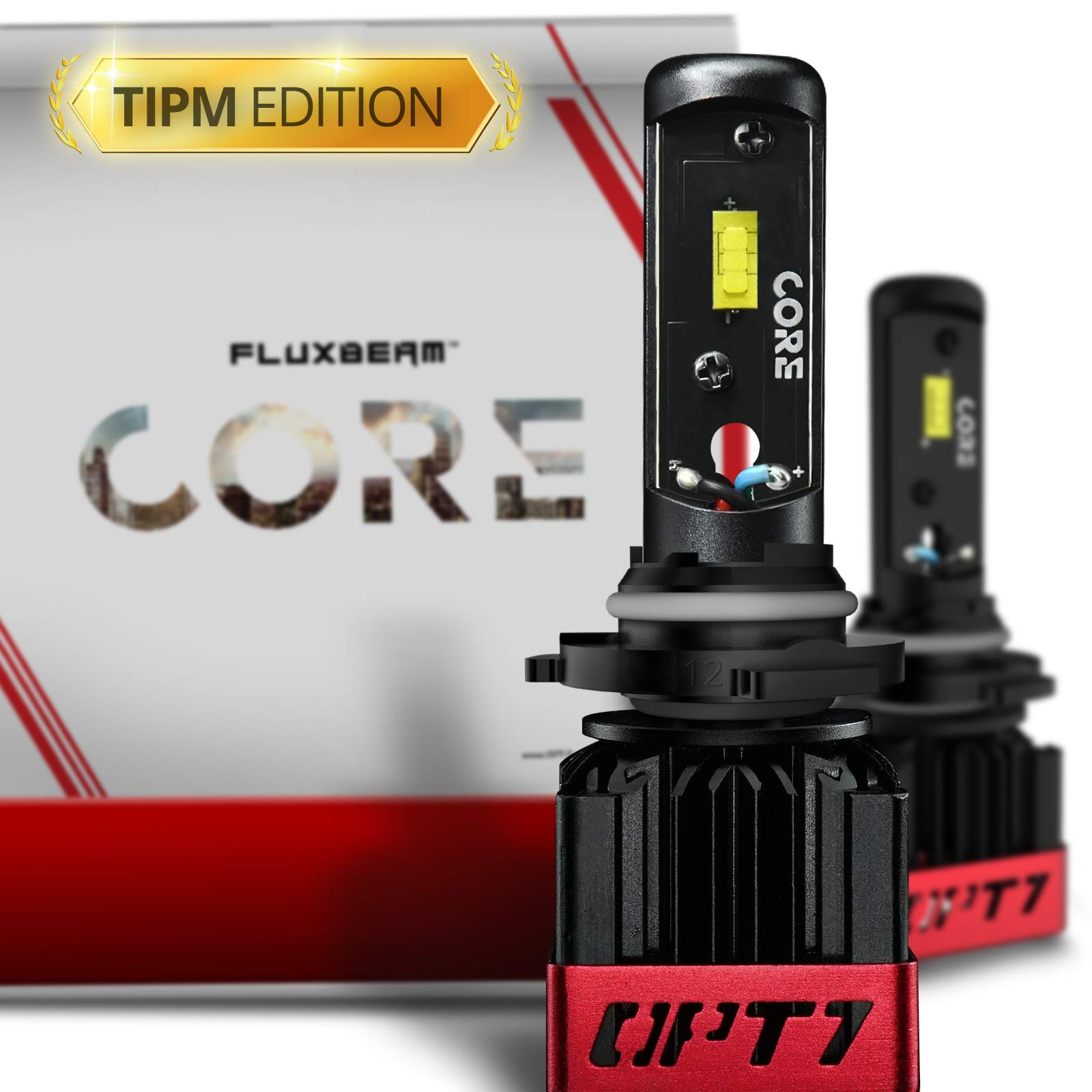 OPT7 Fluxbeam CORE 9012 LED Headlight Bulbs TIPM Resistors Kit with FX-7500 CREE Chip Plug-N-Play Conversion Kit - for Dodge Ram Jeep Chrysler - 6,000LM 6000K Cool White- Built. Not Bought.
